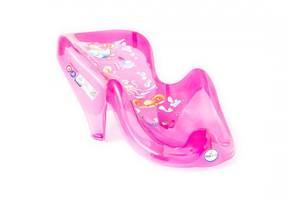 """Горка для купания новорожденных анатомическая и антискользящая Tega Baby """"Аква"""" AQ-003 , розовая"""