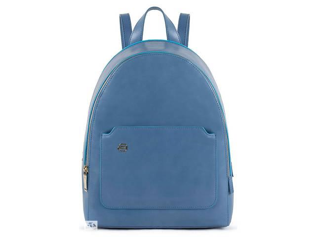 продам Городской рюкзак из натуральной кожи Piquadro Blue Square синий на 8л бу в Киеве