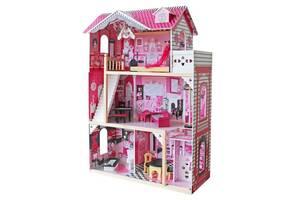 Ляльковий будиночок ігровий для Барбі AVKO Вілла Барселона, ліфт, лялька + Led підсвітка