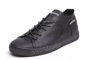 Кеды кроссовки кожаные Diesel Pirate Black