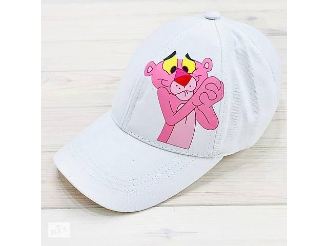 Кепка женская белая с принтом Pink Panther розовая пантера SKL59-259672- объявление о продаже  в Харькове