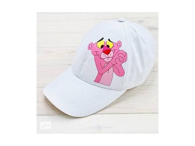 бу Кепка женская белая с принтом Pink Panther розовая пантера SKL59-259672 в Киеве