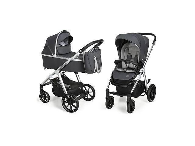 продам Коляска Baby Design 2 в 1 Bueno 217 Graphite (без вышивки) (203824) бу в Харькове