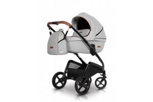Коляска универсальная2 в 1 легкая с алюминиевой рамой детская Euro-Cart Express, белая