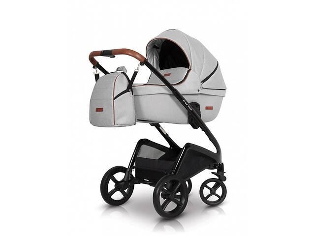 купить бу Коляска универсальная2 в 1 легкая с алюминиевой рамой детская Euro-Cart Express, белая в Киеве