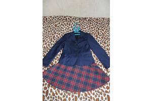 Комплект школьной формы (юбка- клетка) на девочку 7-8 лет ТМ «Сашка»