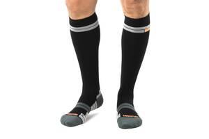 Компресійні спортивні шкарпетки Relaxsan 18-22 мм. рт. ст. 4 Чорні / Помаранчевий 800