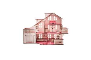 Кукольный дом с гаражом 57х27х35 В010