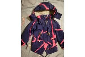 Курточка теплая для девочки 3-4 года
