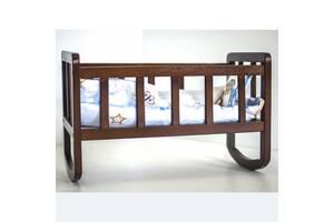 Кроватка для куклы (окрашенные) (орех)