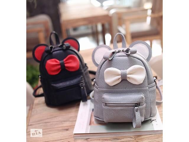 бу Маленький детский рюкзак сумочка Микки Маус с ушками. Мини рюкзачок сумка для ребенка 2 в 1 в Днепре (Днепропетровск)
