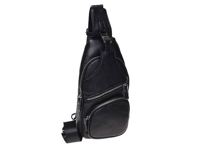продам Мужской кожаный рюкзак Borsa Leather K15026-black бу в Киеве