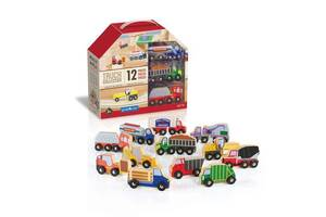 Набор детский деревянных грузовиков Guidecraft Block Play к Дорожной системе, 12 шт.