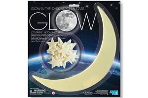 Набор светящихся наклеек 4M Луна и звезды, 13 шт. (00-05215)