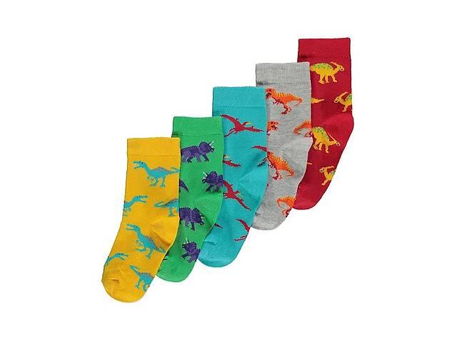 купить бу Носки детские на мальчика george динозавр набор 5 пар размер 23-26 200711 в Киеве