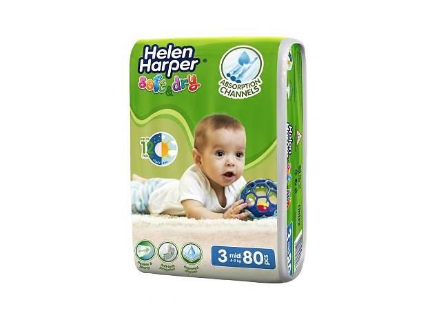 Подгузник Helen Harper Soft&Dry Midi 4-9 кг 80 шт (5411416060178)- объявление о продаже  в Харькове
