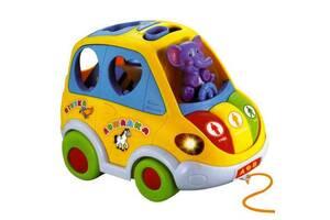 Развивающая игрушка машинка-сортер Автошка Limo Toy JT 9198 UA на украинском языке Желтая (int_Limo Toy 9198 UA)