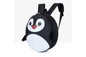 Рюкзак детский маленький Baby Bag, пингвин Черный ( код: IBD003B )