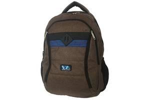 Рюкзак школьный VIA R-77-97 коричневый (gr_010085)