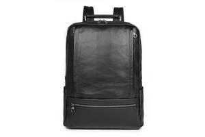 Рюкзак Vintage  кожаный Черный, Черный Vntg14949