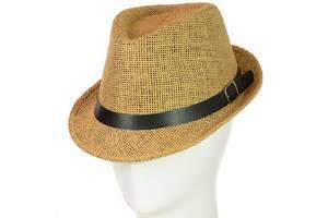 Шляпа Челентанка 12017-7 светло-коричневый SKL11-249331