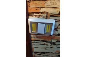 Светильник ночник выключатель со светодиодами с креплением магнитным и липучкой
