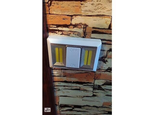 купить бу  Светильник ночник выключатель со светодиодами с креплением магнитным и липучкой в Києві