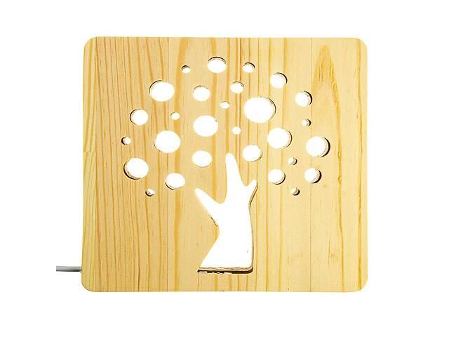 купить бу Светильник ночник из дерева LED с пультом цвет теплый белый Деревце Arteco Light (1020478) в Киеве