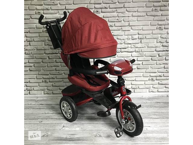 купить бу Велосипед трехколесный Best Trike 5099-1 с родительской ручкой Красный в Киеве