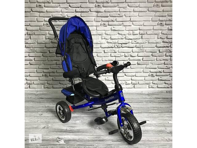 купить бу Велосипед трехколесный Best Trike 5588 детский с родительской ручкой Синий в Киеве