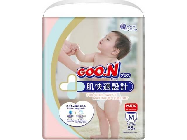 Японские трусики-подгузники для детей 6-12 кг Мунисекс 58 шт GOO.N Plus (843339)- объявление о продаже  в Киеве