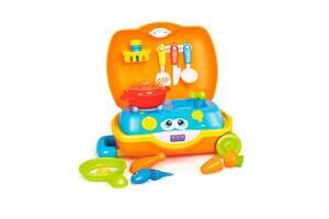 Игровой набор детский Hola Toys Чемоданчик повара с ручкой