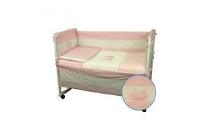 Защитное ограждение для кроватки Руно Котята Розовый 60х120 см (922Кошенята_Рожевий)