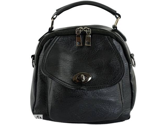купить бу Женская сумка-рюкзак Traum 7235-20, искусственная кожа, 3 л, черный в Киеве