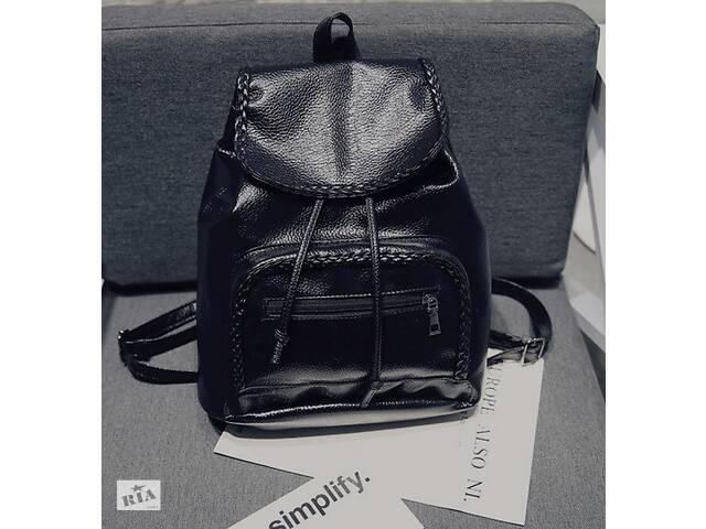 продам Женский кожаный рюкзак черный ПУ кожа бу в Днепре (Днепропетровск)