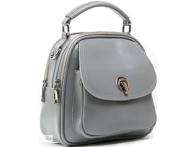 продам Женский рюкзак сумка Alex Rai кожаный 5 л серый бу в Киеве