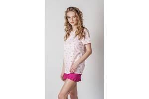 Женская пижама футболка + шорты, женская пижама футболка + шорты