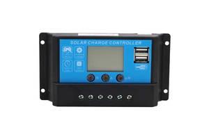 Контроллер 20А 12В/24В с дисплеем + USB гнездо DY2024 JUTA