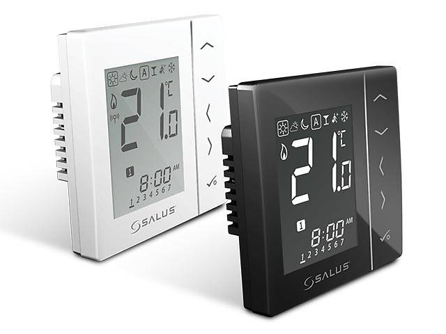 купить бу Salus VS10BRF - терморегулятор бездротової, чорний в Львові