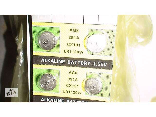 бу Батарейки G8, LR1120, LR55, 191, SR1120W, GP91A, 391. 391A, CX191,191-U10 SR55, SR1120 ц в Вінниці