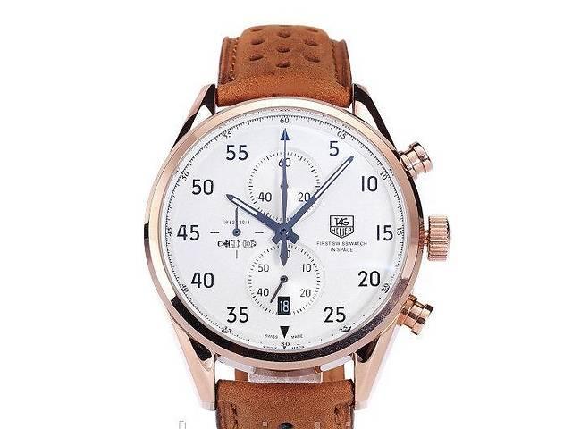 купить бу Часы мужские наручные TAG Heuer Carrera 1887 SpaceX Mechanic Gold/Black-Orange в Сумах