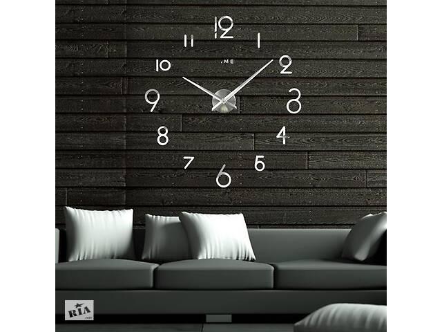 бу Настенные 3D часы Adenki 4227 Серебристые (16-4227-2) в Киеве