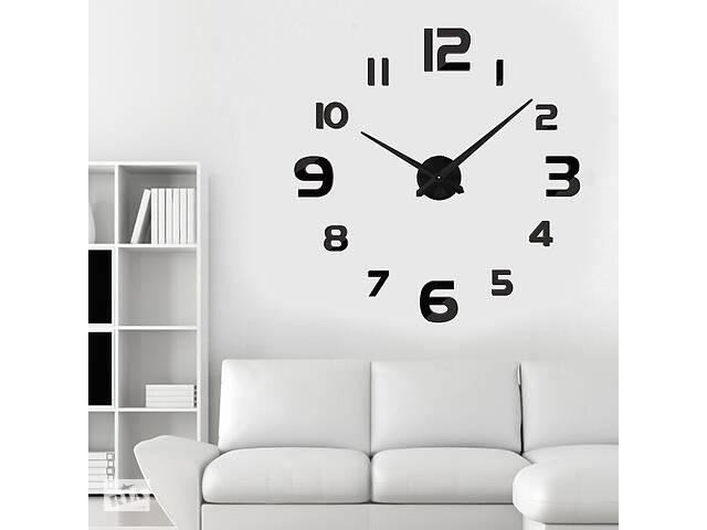 Настенные 3D часы Adenki 4228 Черные (16-4228-2)- объявление о продаже  в Киеве