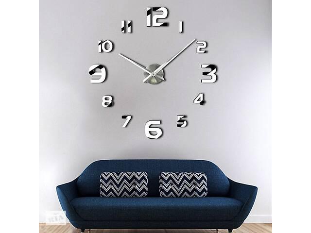 Настенные 3D часы Adenki 4228 Серебристые (16-4228-1)- объявление о продаже  в Киеве