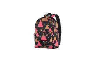 Рюкзак для ноутбука 2E TeensPack Triangles, black (2E-BPT6114BK)