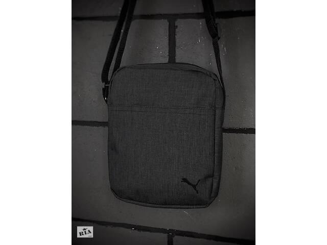 купить бу Барсетка Puma Мужская пума темно серая сумка через плечо в Харькове