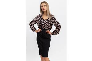Блуза 115R169F цвет Черно-розовый