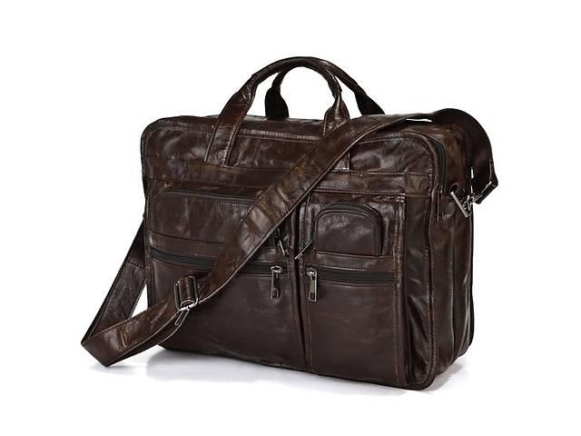 купить бу Большая кожаная сумка для документов или ноутбука 7093Q от John McDee JhnMcDJD7093Q в Киеве