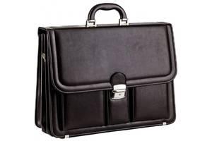 Большой мужской портфель из кожзаменителя AMO SST03 коричневый