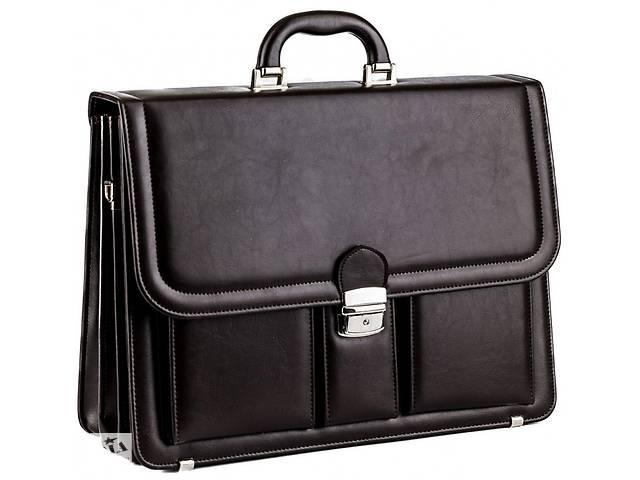 продам Большой мужской портфель из кожзаменителя AMO SST03 коричневый бу в Киеве